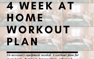 Four Week At Home Workout Program
