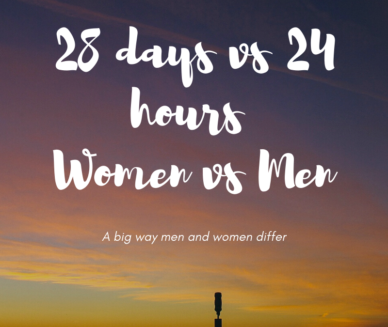 28 days vs 24 hours – a big way women and men differ day to day